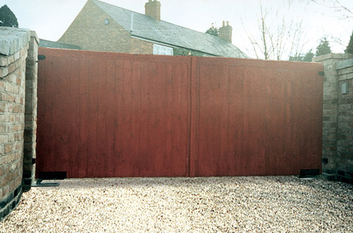 Flat top Wooden Gate